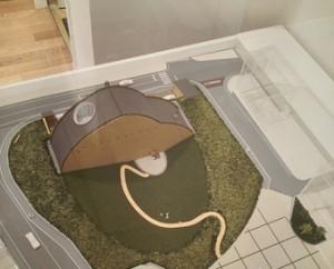 モザイクタイルミュージアム模型
